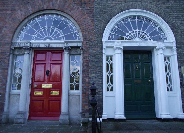 Porte dipinte a dublino architettura georgiana - Colori per porte ...